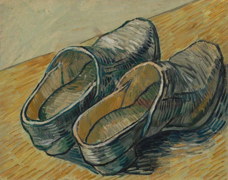 Un par de zuecos de piel, de Vicent Van Gogh